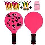 Sanmubo Tragbarer Schläger Badmintonschläger aus Holz Badmintonschläger aus Holz Beachball Cricketball Federballspiel und Familientraining Kinder Kinderbüro Outdoor Sports -