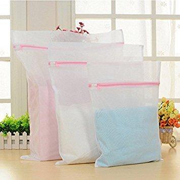 Generic 39x 27cm: Kleidung Waschen Mähne Wäsche BH Tabelle Daunen Jacken Hilfe Dessous Mesh-Net Wash Tasche Tasche Korb 3Größen 1