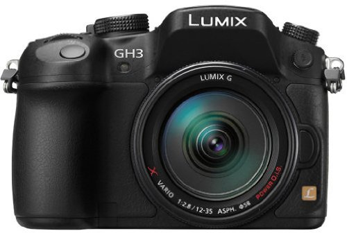 Panasonic DMC-GH3AEG-K Fotocamera Digitale, Zoom X-Lens 12-35 mm, OLED, GPS, Nero