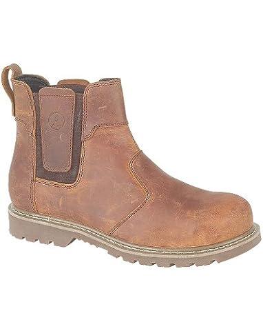 Amblers Abingdon Casual Dealer Boot Brown Crazy Horse 10