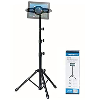 ACTNOW iPad Foldable Floor Tablet Holder, Height Adjustable 360 Rotating Stand for iPad Mini/Air and More 7
