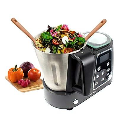 PRIXTON-Programmierbarer-Kochfunktion-Kchenmaschine-Mischen-Schlagen-Hacken-Dampfgarer-Garen-Braten-Waage-Rezept-und-Zubehr-Edelstahl-Kitchen-Gourmet-KG200