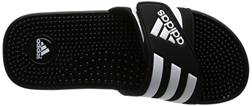 Adidas Adissage, Unisex Adults' Beach & Pool Shoes, Black (Blackblackrunning White Ftw), 12 Uk