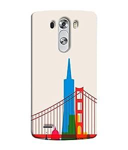 PrintVisa Designer Back Case Cover for LG G3 :: LG G3 Dual LTE :: LG G3 D855 D850 D851 D852 (Lovely Cute Gates Bridges Multistory Building)