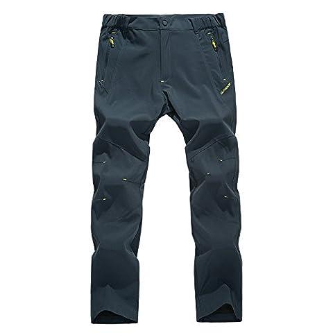 walk-leader Homme Décontracté Extérieur coupe-vent Camping Randonnée Cyclisme Pantalon pour femme - gris - Small