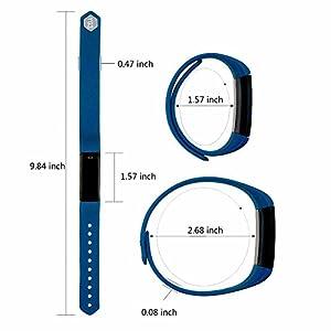 Fitness Tracker Pushmen YG3 Pulsera Inteligente Point Touch Pulsera Bluetooth inalámbrico Recordar llamada/Contador de calorias/Podómetro Compatible con teléfonos inteligentes Android y iOS