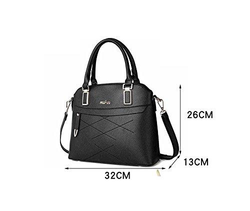 Borsa a tracolla delle ragazze, sacchetto grande, zaino semplice minimalista di modo coreano, borsa universitaria ( Colore : Grigio ) Grigio