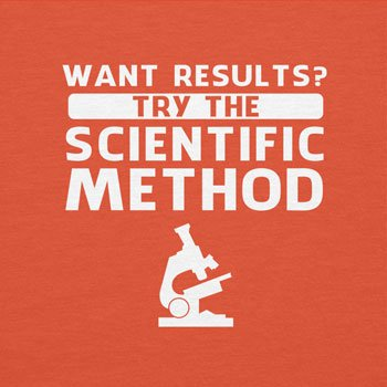 TEXLAB - Try the scientific method - Herren T-Shirt Orange