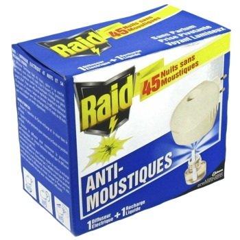 Raid® Mücken-Stecker/ Starter Kit 1 Stecker + 1 Nachfüller/ bis zu 45 Nächte x 8 Std. Schutz vor Mücken & Tigermücken