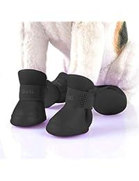 Easy Go Shopping Zapatos para Mascotas encantadores para Perros Cachorro Botas de Goma de Color Caramelo