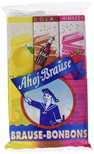 Ahoj-Brause Brause-Bonbon-Stangen - Brause-Bonbons verpackt als Stange - 3 verschiedene Geschmacksrichtungen: Zitrone, Cola und Himbeere - 36er Pack (36 x 69 g)