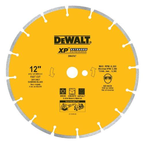 Dewalt dw4747XP 12Zoll Dry Schneiden Diamant segmentiert Sägeblatt mit 1Arbor für Asphalt, ziegel, und Beton 12 Zoll Beton-sägeblatt