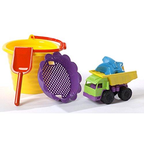 Preisvergleich Produktbild Sankasten Spielzeug Schippchen, Eimer, Formen (Gelb)