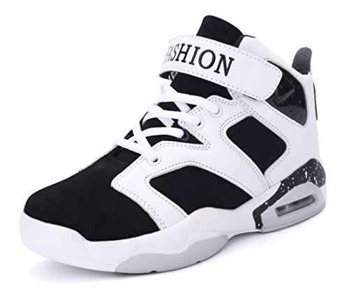 Men's High Top Outdoor Athletic Basketball Shoes white