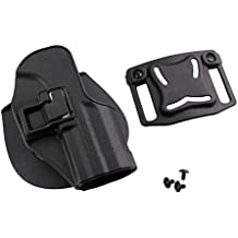Airsoft Tactical Right Waist Concealment Paddle Belt Quick Release Funda Holster para H & K USP COMPACT, negro