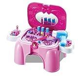 Set salone di bellezza e toletta giocattolo - richiudibile a sgabello con manico per il trasporto
