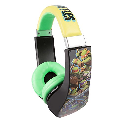 Image of Headphones for Kids Ninja Turtles Kid Safe 2 Children Friendly Headphones Volume Limited On Ear Headphones for Children (Ninja Turtles)