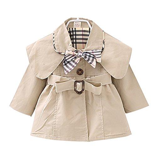 Süßer Mädchen Kids/ Teens Trenchcoat Mantel mit Gürtel Mantel Outerwear Beige/100cm