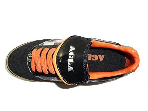 Agla, Futsalschuhe Da Uomo Media Nero / Arancione