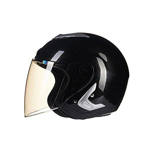 TZQ Warm Winter Halbhelm Mode Motorrad Akku Auto Wrestling Hut Männer Licht Helm,C-OneSize