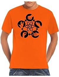 Touchlines T-shirt avec motif jeu Pierre-feuille-ciseaux-lézard-Spock de la série Big Bang Theory