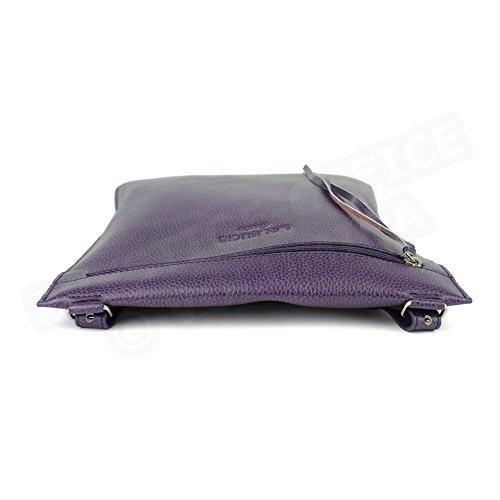 Besace modèle intermédiaire cuir Fabrication Luxe Française Violet