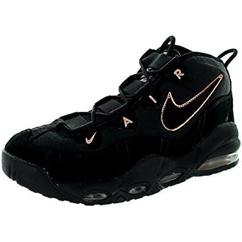 Nike hombres Air Max Uptempo negro/Mtlc rojo/Bronze Basketball zapatos 10 Men US