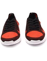 Menter Sports Designer Casual Canvas/Mesh Shoes for Men, Orange