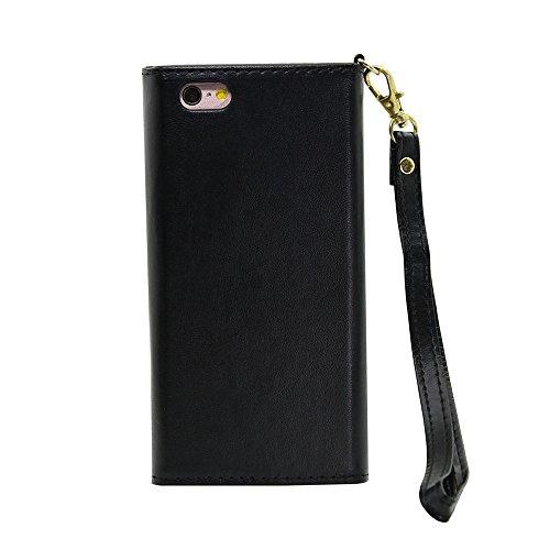 iPhone Case Cover Normallack-Fall V Art-Verschluss-Umschlag-Muster PU-lederner Mappen-Kasten mit Handbügel für IPhone 6S 6 4.7 Zoll ( Color : Pink , Size : IPhone 6S 6 ) Black