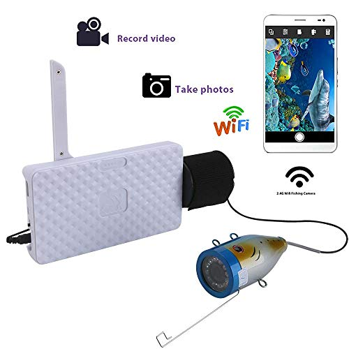 H&L Fish Depth Finder, 720P WiFi Wireless Underwater Video Recording for IOS Android APP unterstützt Video Record and Take Photo,30M