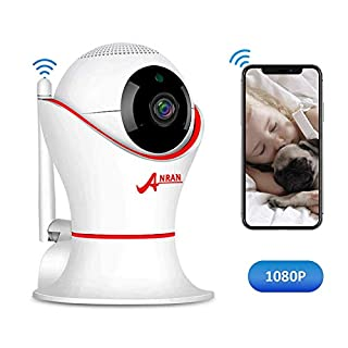 ANRAN HD 1080P 360 Home Wireless Security Dome IP Camera with 3D Navigation Panorama View Night Vision Two-Way Audio, Motion Detection, Indoor Surveillance for Home, Baby, Elder, Pet