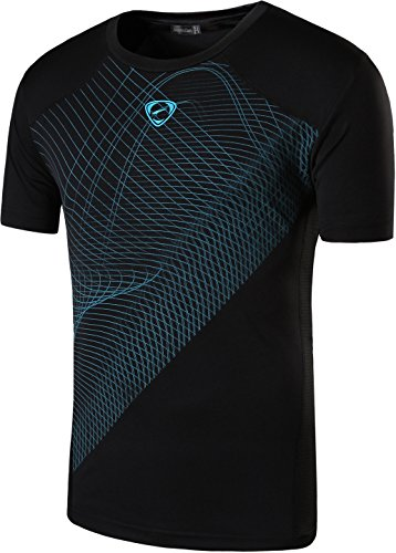 jeansian Herren Sportswear Quick Dry Short Sleeve T-Shirt LSL133 LSL069_Black