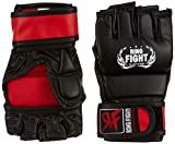 Ceela Sports RF-TPGG-12L MMA Gloves, Large/X-Large (Black/Red)