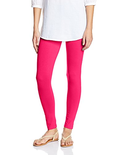 Myx Women's Cotton Stretch Leggings (AW16LEG01Q_Dark Pink_Small)