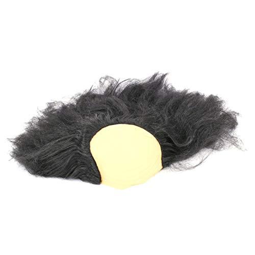 Männer Kostüm Lustige Kreative - Ouken Halloween Bald Perücke Unisex Bald Head Cap Lustige Perücke Alter Mann Perücke Masquerade Supplies kreatives Halloween-Kostüm-Zusatz 1pc Schwarz