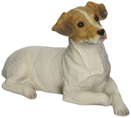 Sandicast Skulptur Jack Russell Terrier, Originalgröße, Braun/Weiß Jack Russell Terrier Small Size weiß -