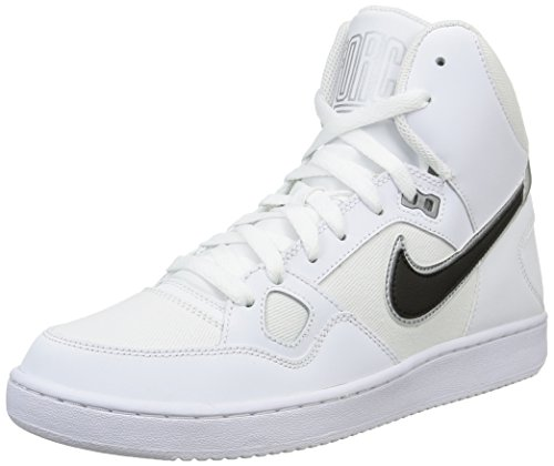 NikeSon of Force Mid - Scarpe da Basket Uomo, Bianco (Weiß (White/Black-Metallic Silver)), 44