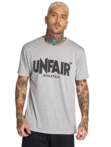 Unfair Athletics Herren T-Shirt Classic Label UNFR15-016 Grau Grey Melange, Größe:L