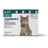 WIM Crossblock II pulgas de los Gatos preventivo 5-9 Libras. (3 Paquetes)