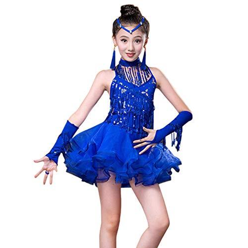 Daytwork Tanzkleidung Kleid Fransen Rock Mädchen - Kinder Pailletten Ballsaal Tanzen Kostüm Latein Kleider Salsa Tango Samba Rumba Dancewear Bühne Party