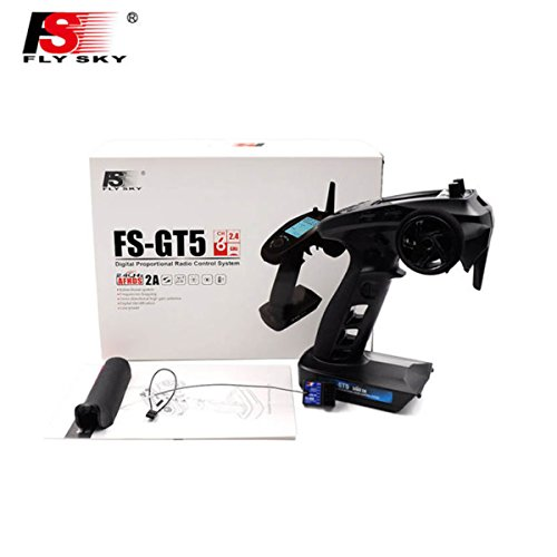 Flysky fs-gt56CH afhds RC Transmitter mit Flysky fs-bs6Empfänger für RC Car Boat Transmitter GT5 Transmitt (Remote-control Car Und Track)