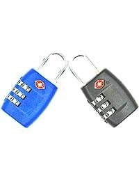 Cerraduras de combinación de 3 dígitos de JYHY® TSA, candados resistentes y de alta seguridad, para equipaje, maletas, bolsos de viaje y casilleros de gimnasio,paquete de 2