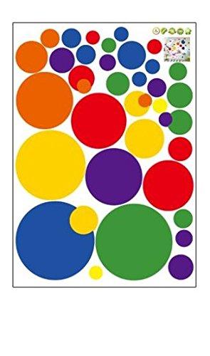 Vinilo de pared circulos colores decoracion salon, dormitorio..