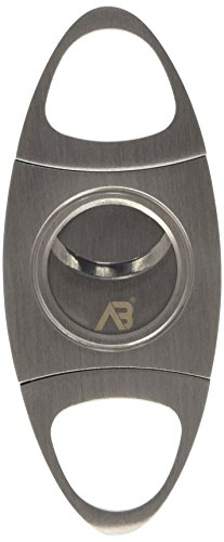Image of ALASKA BEAR - Cigar Cutter Stainless Steel Guillotine Double Cut Blade in Black Gift Pouch(Lifetime Warranty)