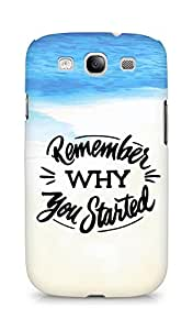 AMEZ remember why you started Back Cover For Samsung Galaxy S3 Neo