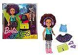 Mattel FHC01 - Barbie and Rockers - Chelsea dunkelhaarig mit extra Mode, Kleidung, Schuhen und Zubehör wie Kopfhörer und Soundmachine