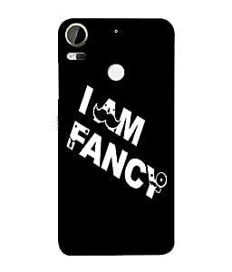 Fuson Designer Back Case Cover for HTC Desire 10 Pro (I am Fancy Moustach Mooche Nathulal)