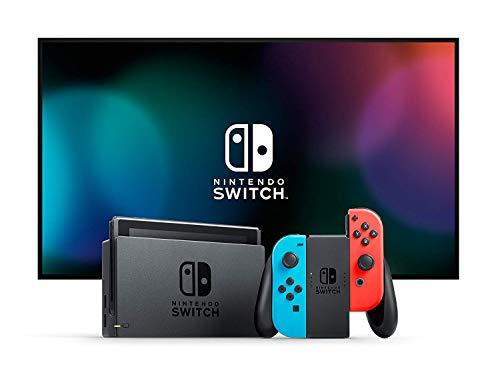 Nintendo Switch -  Consola color Azul Neón/Rojo Neón (Modelo 2019)