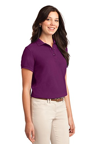Port Authority Femme toucher soyeux Polo. L500 Deep Berry