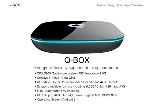 Superview QBOX With 2 4G I8 Wireless Keyboard Android 5 1